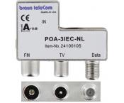 Braun Telecom RTV data splitter POA 3 IEC-NL met 3 uitgangen - 5-2000 MHz (Horizon Box)