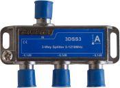 Hirschmann splitter 3DSS3 met 3 uitgangen / 6,1 dB / 5-1218 MHz