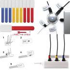 LTC 10 kleine velcro kabellabels gekleurd