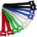 Klittenband kabelbinders 125 x 12mm / diverse kleuren (10 stuks)