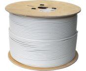 Hirschmann KOKA 9 Eca 4G/LTE proof coaxkabel op haspel voor binnen / wit - 500 meter