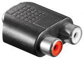 Tulp (v) - 3,5mm Jack (v) stereo audio adapter