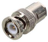 BNC (m) krimp connector 93 Ohm voor RG62 kabel