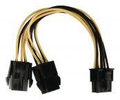 EPS 8-pins (m) - 2x PCIe 6-pins (v) voedingsadapter - 0,15 meter