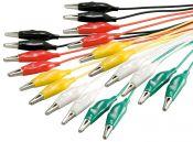 Test kabel set met krokodillenklemmen - 10 kabels / middel - 0,50 meter
