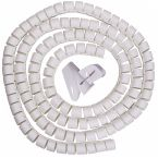 Cable eater kabelslang met rijgtool - 16 mm / 3m / wit