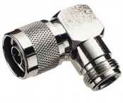 N (m) - N (v) haakse adapter - 50 Ohm
