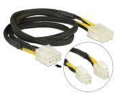 2x ATX12V P4/1x EPS12V 8-pins (m) - EPS12V 8-pins (v) voedingskabel - 0,30 meter
