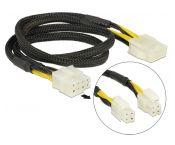 2x ATX12V P4/1x EPS12V 8-pins (m) - EPS12V 8-pins (v) voedingskabel - 0,45 meter