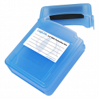 Afsluitbare bescherm box voor 2x 2,5'' HDD/SSD / blauw