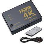 HDMI schakelaar 3 naar 1 / met afstandsbediening en IR extender - versie 1.4 (4K 30Hz)