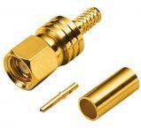 SMC (m) krimp connector voor RG-179 / RG-187