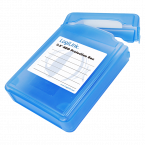 Afsluitbare bescherm box voor 3,5'' HDD / blauw
