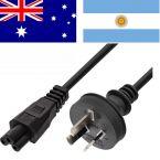 Australië stroomkabel met C5 plug - zwart - 1,8 meter
