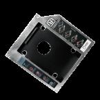 2,5'' SATA HDD/SSD naar 5,25'' Ultra Slim SATA drive (9,5mm) caddy / grijs