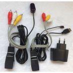 Tulp composiet audio video over ethernet extender met IR remote
