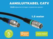 Technetix RLA++10  4G/LTE proof IEC (m) - IEC (v) coaxkabel - 1,5 meter