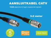 Technetix RLA++10  4G/LTE proof IEC (m) - IEC (v) coaxkabel - 5 meter