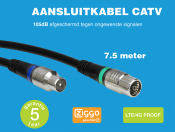 Technetix RLA++10  4G/LTE proof IEC (m) - IEC (v) coaxkabel - 7,5 meter