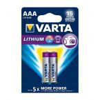 Varta AAA Lithium batterijen - 2 stuks