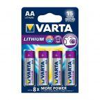 Varta AA Lithium batterijen - 4 stuks
