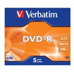 Verbatim DVD-R discs in Jewel Case - 16-speed - 4,7 GB / 5 stuks