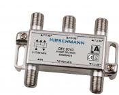 Hirschmann splitter DFC0741 met 4 uitgangen / 7,5 dB / 5-1218 MHz