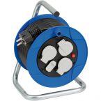 Brennenstuhl Garant compacte kabelhaspel met 3 contacten en 2x USB / blauw/zwart - 15 meter