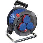 Brennenstuhl Garant IP44 Bremaxx compacte kabelhaspel met 3 contacten / zwart/blauw - 15 meter