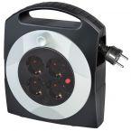 Brennenstuhl Primera-Line kabel box met 4 contacten / zwart/wit - 10 meter