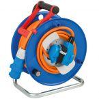 Brennenstuhl Garant CEE 3-pins IP44 camping/maritieme kabelhaspel met 2 contacten / blauw/oranje - 23 + 2 meter