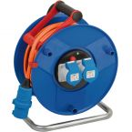Brennenstuhl Garant CEE 3-pins IP44 camping/maritieme kabelhaspel met 2 contacten / blauw/oranje - 25 meter