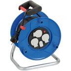 Brennenstuhl Garant kabelhaspel met 3 contacten en 2x USB / blauw/zwart - 25 meter
