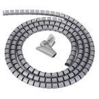 Cable eater kabelslang met rijgtool - 16 mm / 1,5m / grijs