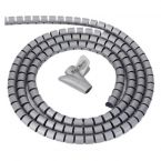 Cable eater kabelslang met rijgtool - 28 mm / 1,5m / grijs