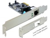 DeLOCK Gigabit PCI-Express kaart - 1x RJ45