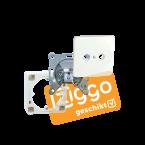 Hirschmann wandcontactdoos EDC 1000 E SHOP compleet / KabelKeur en Ziggo Geschikt