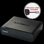 Edimax ES-5500G V3 Gigabit Ethernet Switch met 5 poorten / zwart