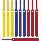 Klittenband kabelbinders 170mm / diverse kleuren (10 stuks)