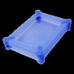 Siliconen bescherm case voor 3,5'' HDD / blauw