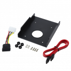 2,5'' SATA HDD/SSD naar 3,5'' slot montage frame inclusief kabels / zwart