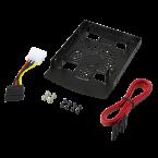 2x 2,5'' SATA HDD/SSD naar 3,5'' slot montage frame inclusief kabels / zwart