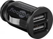 Goobay USB autolader met 2 poorten - 3,1A / zwart