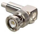 BNC (m) krimp connector voor RG58 kabel - 50 Ohm / haaks