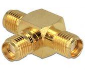 SMA (v) - 2x SMA (v) T-adapter / 50 Ohm