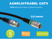 Technetix RLA++10  4G/LTE proof IEC (m) - IEC (v) coaxkabel - 3 meter
