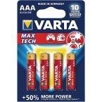 Varta AAA Longlife Max Power batterijen - 4 stuks