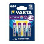 Varta AAA Lithium batterijen - 4 stuks