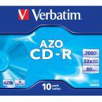 Verbatim CD-R AZO Crystal discs in Jewel Case - 52-speed - 700 MB / 80 minuten / 10 stuks