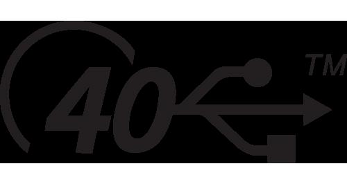 usb4 40gbit port en kabel logo